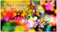 Convocatoria abierta para el 18º Festival Latinoamericano de Cine con Vecinos
