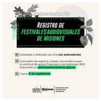 El Instituto de Artes Audiovisuales de Misiones (IAAviM) garantiza el apoyo a los Festivales provinciales