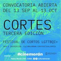 """Abierta la convocatoria para el 3 """"Cortes"""", Festival de cortometrajes LGBTTQI+"""